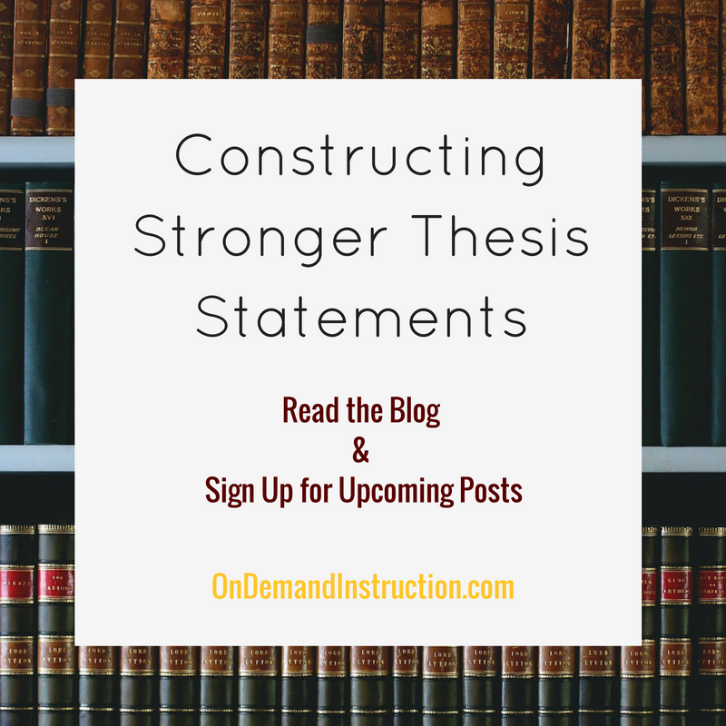 Stronger Thesis Statements