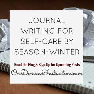 Journal Writing for Self Care - Winter