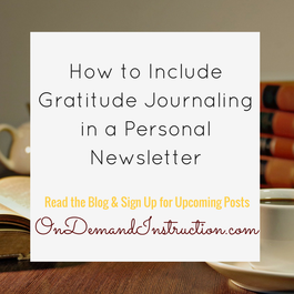 how to include gratitude journaling in a personal newsletter