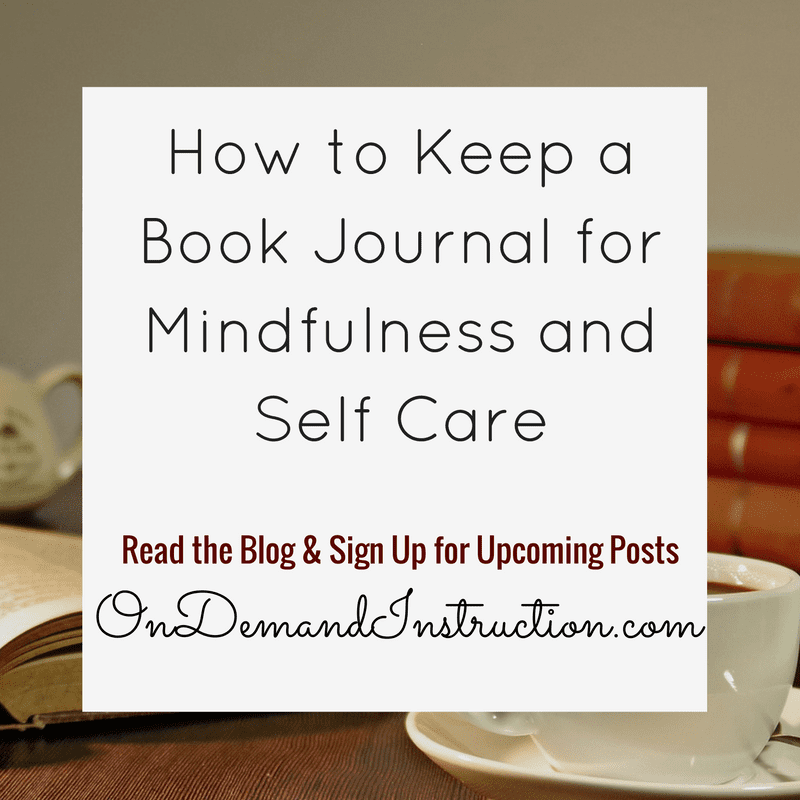 Book Journal for Mindfulness and Self Care