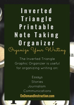 Inverted Triangle Graphic Organizer - WRITERS WELCOME