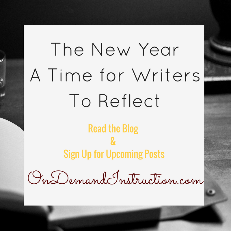 New Year: A Time to Reflect