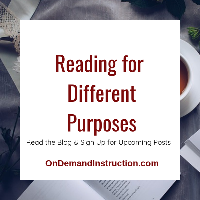Reading for different purposes