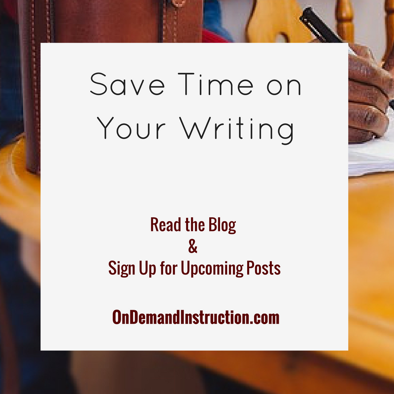 Save Time on Your Writing