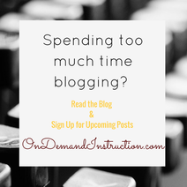 Spending too much Time Blogging?