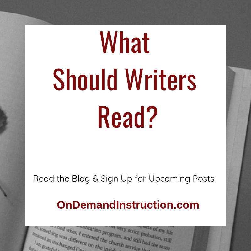 What should writers read